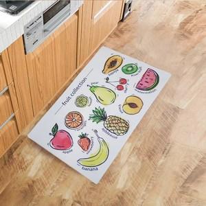【三房兩】優質防水防滑皮革地墊 45x75cm(水果家族)