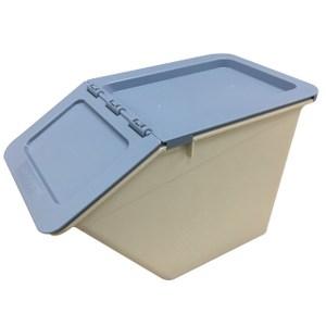 HOLA 經典掀蓋小收納箱 藍
