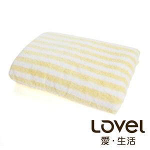 開纖紗牛奶條紋系列 浴巾-芒果牛奶