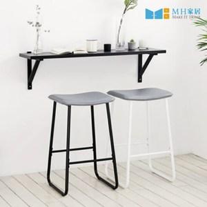 【MH家居】韓國吧椅 吧台椅 中島椅 諾迪鐵質高腳椅 黑色