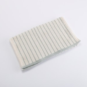 有機棉簡約條紋毛巾-忘幽藍
