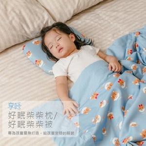 【Prodigy 波特鉅】抗菌好眠柴柴四季被(輕柔舒適)柴柴藍被