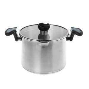 HOLA 亞倫不鏽鋼高身湯鍋24cm (灰柄)