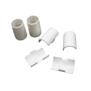 竹節片4組(8片)白色-波浪架1鐵管用