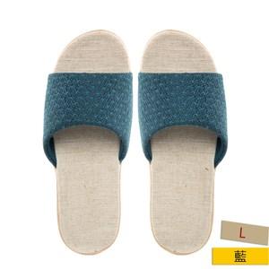 HOLA 居家平面輕便拖鞋點點藍L