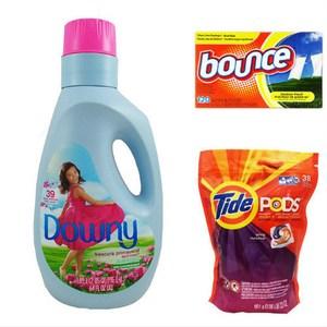 Tide洗衣凝膠球+Downy柔軟精+Bounce香衣片