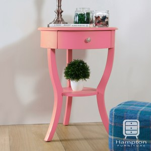 【Hampton 漢汀堡】安琪拉三腳圓桌-多色可選粉紅色