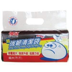 優品強韌清潔袋檜木香(超大)(黑)70L(27入)