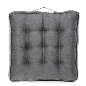 HOLA 素色織紋胖胖墊50x50cm 炭灰色