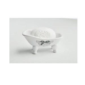 MATHILDE M.迷你貓腳浴缸皂台&洗手皂-白色-玫瑰女神
