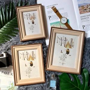 品味時代貝爾木紋雙色4X6相框-咖木紋(一入)