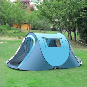 PUSH!戶外休閒用品1秒丟自動免搭拋帳露營帳篷P118藍色藍色