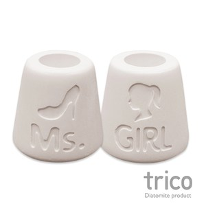 日本Trico 幸福點點名珪藻土牙刷架(Ms+Girl)