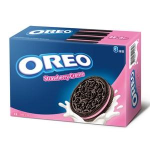 OREO 奧利奧草莓口味夾心餅乾(399g)x12入 箱購