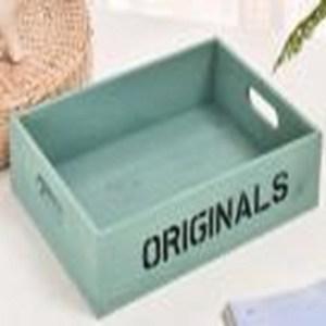 家居木質收納盒-綠色