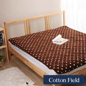 棉花田【暖點】超細纖維時尚印花雙人保暖墊-3色可選雙人-可可