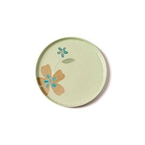 創意日式手繪餐具 6.8英吋平盤綠色