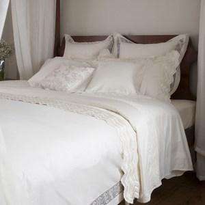 【BBL Premium】藏愛100%精梳棉.蕾絲素色床組-雙人