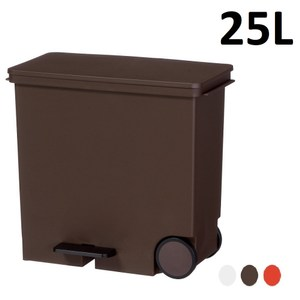 this-this【日本Like it】橫向式分類垃圾桶 25L -棕色