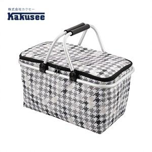【日本Kakusee料理道具】折疊式保溫保冷袋千鳥紋