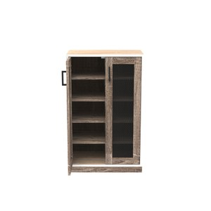 (組) 特力屋萊特 組合收納櫃 橡櫃胡桃層黑網門胡桃腳 60x35x91cm