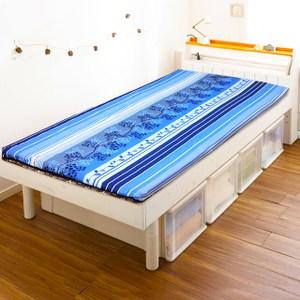 【KOTAS】天然藺草冬夏折疊床墊-單人(藍色)