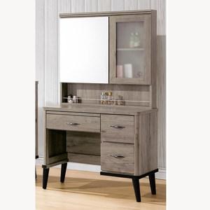【obis】古橡木3尺鏡台-含椅(古橡木色 3尺 鏡台 含椅)古橡木色