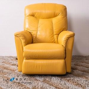 La-Z-Boy 搖椅式休閒椅 10T726 全牛皮 黃色
