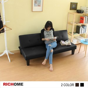 【RICHOME】DM超值時尚沙發床-黑色