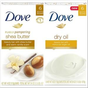 【美國進口 Dove】摩洛哥堅果油/乳油木香皂(4oz.)*6/*4
