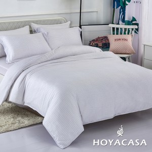 【HOYACASA】心懸特大四件式抗菌天絲兩用被床包組
