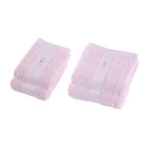 (組)HOLA 土耳其純棉浴巾x2+毛巾x2 (粉)