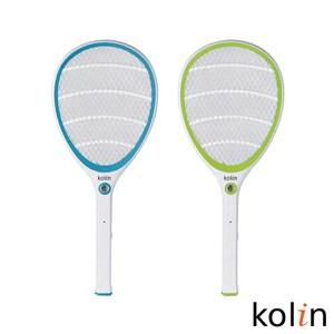 Kolin歌林 18650電池充電式電蚊拍(藍/綠 顏色隨機)