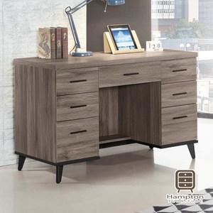 【Hampton 漢汀堡】羅瑞爾系列古橡色4尺書桌