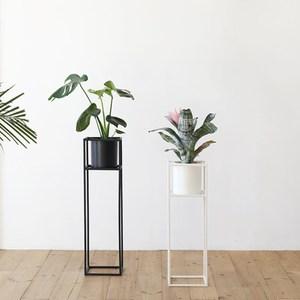 【MH 家居】艾爾莎立式花架-M(花器/盆栽)黑色