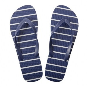 HOLA home舒活夾腳拖鞋 條紋藍色 XL