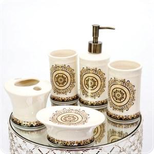 HONEY COMB 古埃及風陶瓷冰裂紋衛浴五件組 GP08