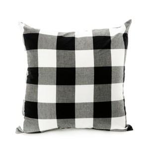 水洗棉格紋抱枕 45x45cm