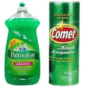 美國 Palmolive濃縮洗碗精(52oz*3)+ Comet萬用去