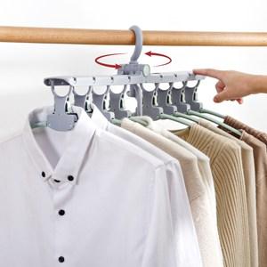 【IDEA】無印多功能秒收按鈕式晾曬衣架夾粉紅