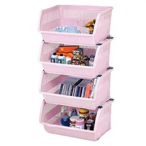 硬漢樂高層疊收納架 4入-粉紅
