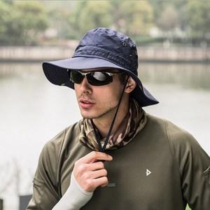 PUSH!戶外用品戶外登山帽折疊遮陽帽夏季速乾漁夫帽H31藏青藏青