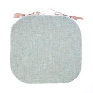 浮紋編織馬蹄餐椅墊38x41cm芳草綠