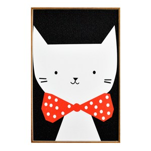 TROMSO北歐生活版畫有框畫-俏皮貓咪