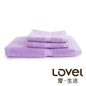 Lovel 嚴選六星級飯店素色純棉3件組(浴巾/毛巾/方巾)-薰紫