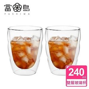 【FUSHIMA 富島】造型系列雙層耐熱雲朵玻璃杯240ML*2入