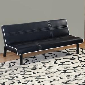【YFS】麗絲黑皮沙發床-170x99x36cm