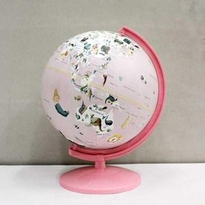 SkyGlobe 10吋童話動物版地球儀-粉(附燈)(中英文版)