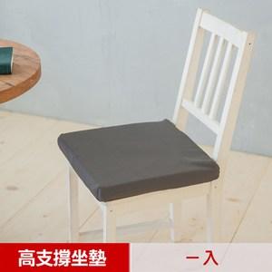 【凱蕾絲帝】台灣製造久坐專用二合一高支撐記憶聚合紓壓坐墊-深灰(1入)
