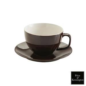 【P&K】經典咖啡杯443ml附盤(黑)